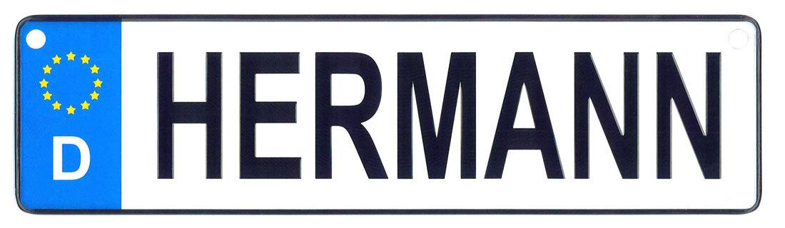 Hermann license plate