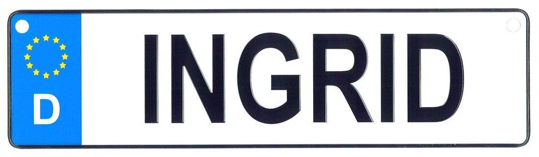 Ingrid license plate