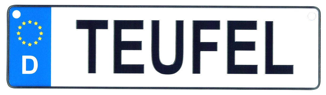 Teufel license plate