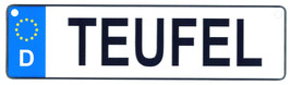 Teufel - European License Plate (Germany) - $9.00