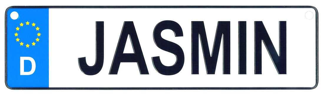 Jasmin - European License Plate (Germany)