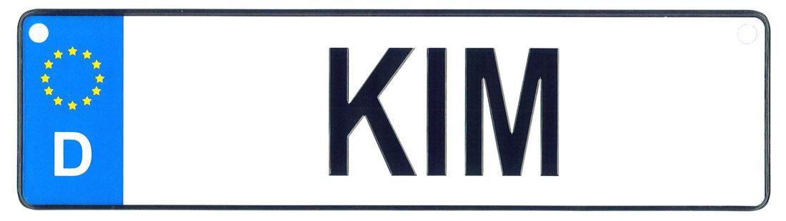 Kim license plate