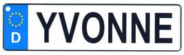 Yvonne license plate thumb200