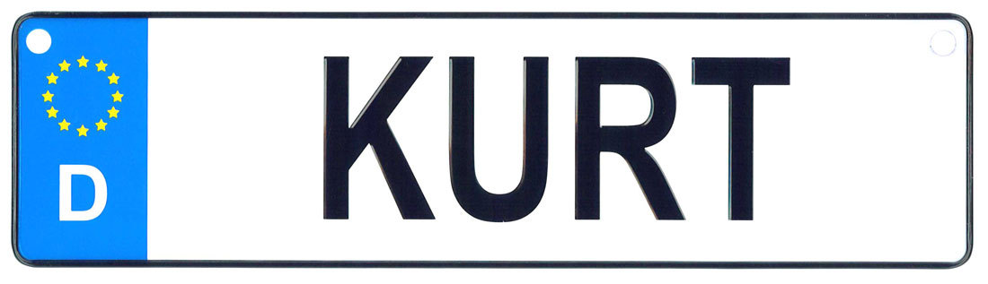 Kurt license plate