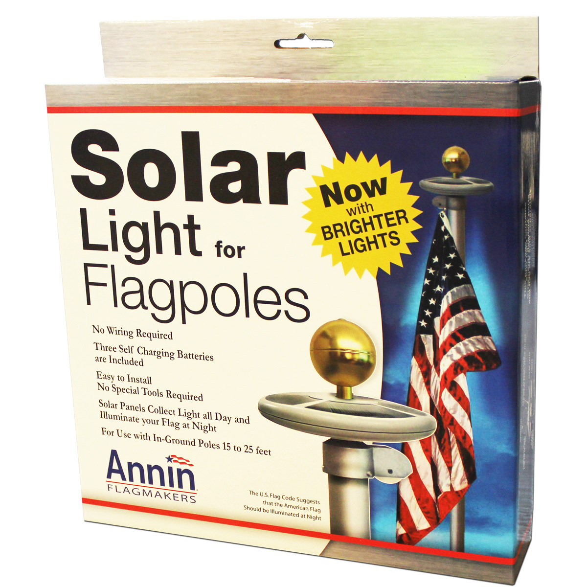 Solar Light for In-Ground Flagpole