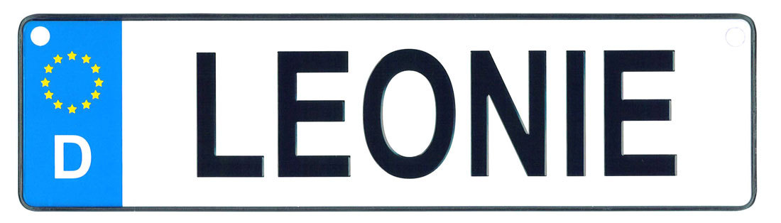 Leonie - European License Plate (Germany)