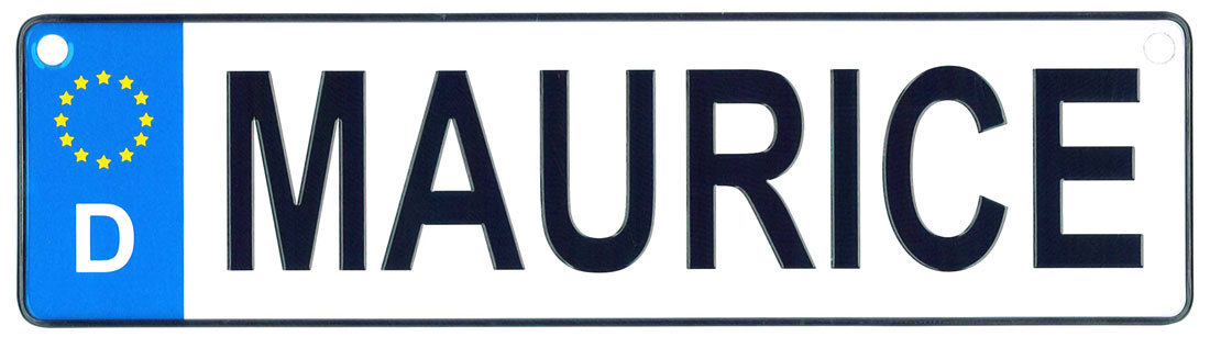 Maurice license plate