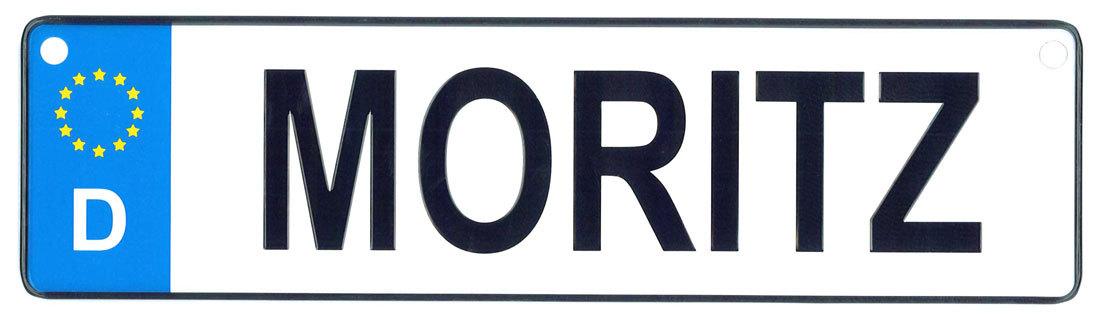 Moritz license plate