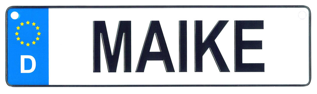Maike - European License Plate (Germany)