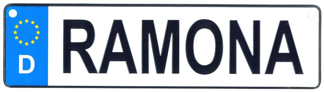 Ramona license plate