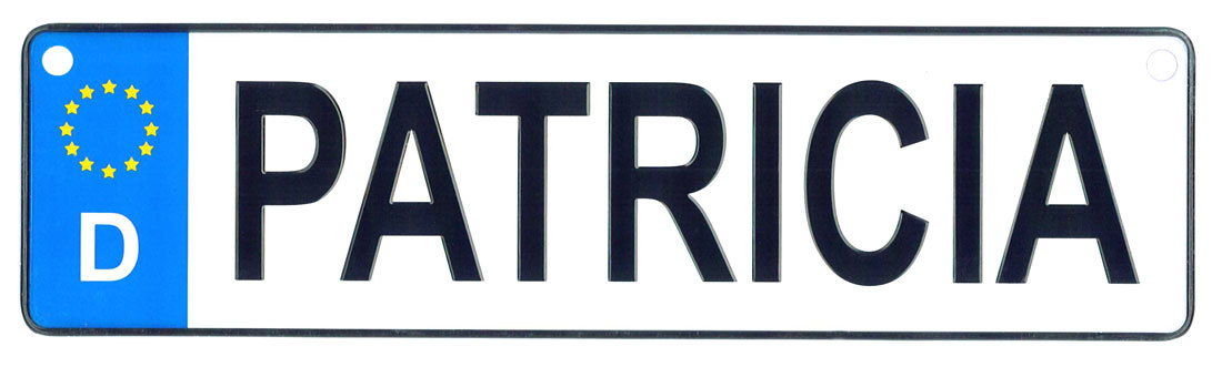 Patricia - European License Plate (Germany)