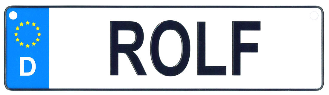 Rolf license plate