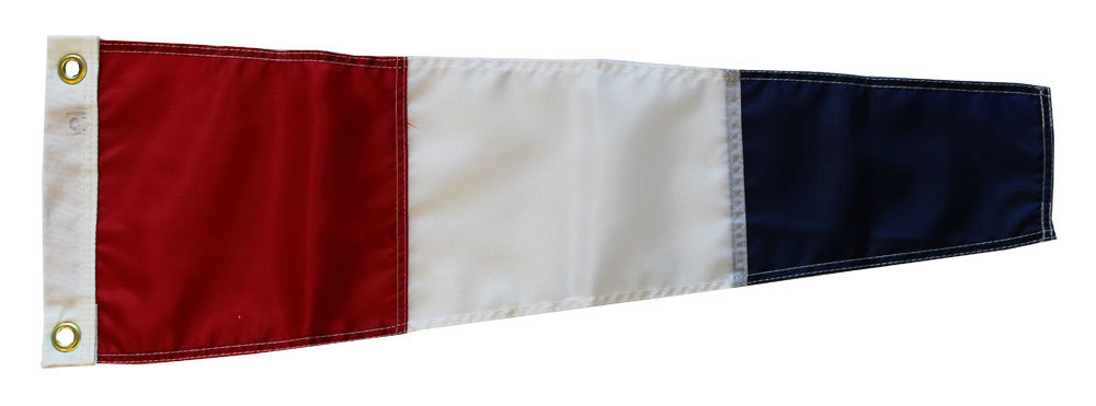 Number 3 - Nautical Code Signal Nylon Pennant