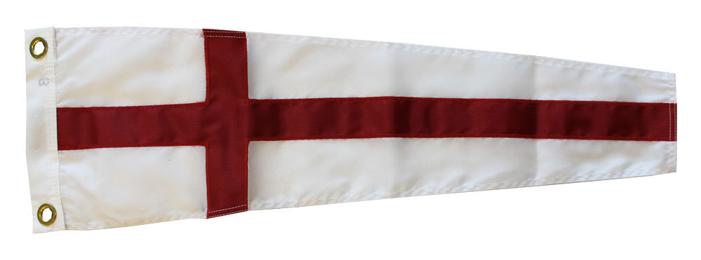 Number 8 -  Nautical Code Signal Nylon Pennant
