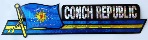 Conch rep bumper sticker