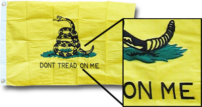 Gadsden - 2'x3' Cotton Flag