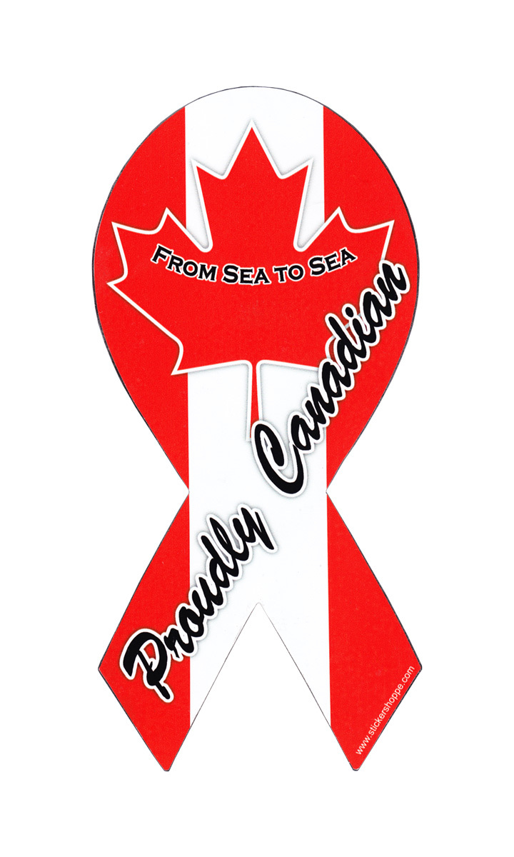 "Canada Magnet - 4"" x 8"" Ribbon Magnet"