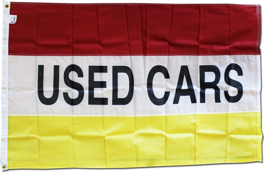 Used cars yellow 3x5 nylon
