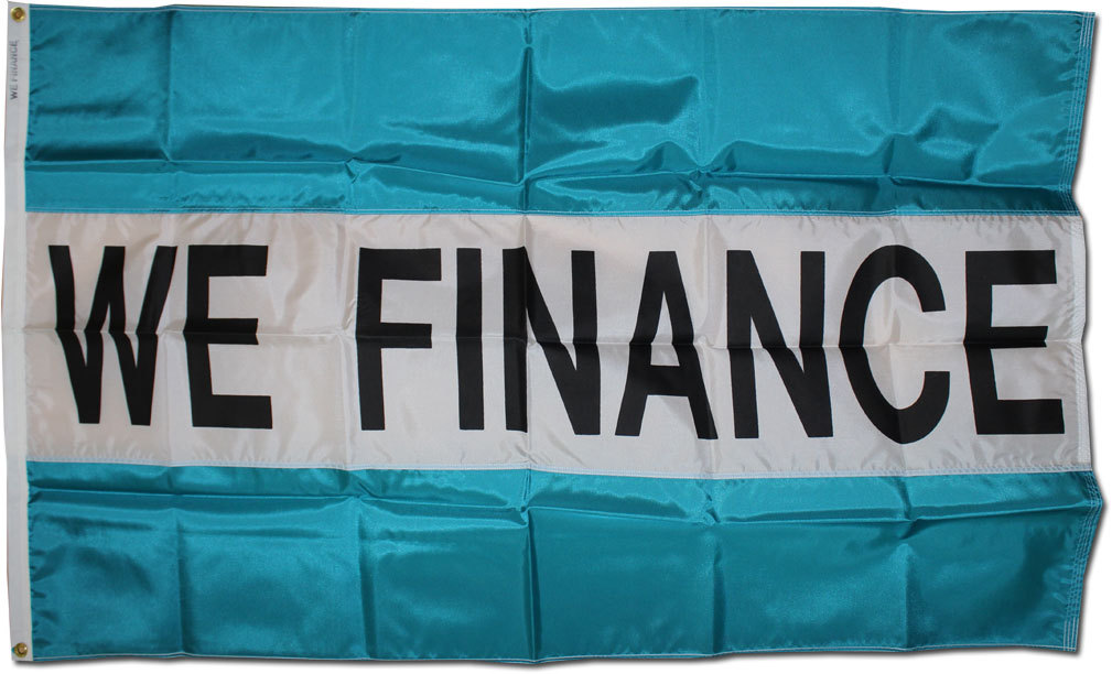 We finance teal 3x5 nylon f