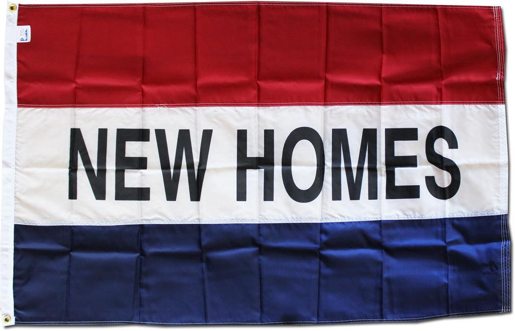 New homes 3x5 nylon flag
