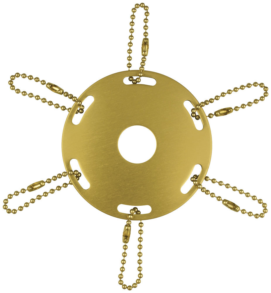 Ornament metal award ribbon pole ring gold
