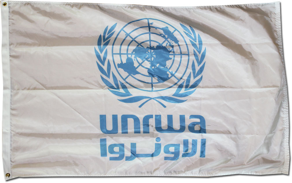 United Nations and Relief Works Agency (UNRWA) - 3'X5' Nylon Flag