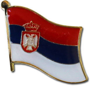 Serbia Lapel Pin (current flag)