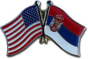 Serbia new friendship lapel