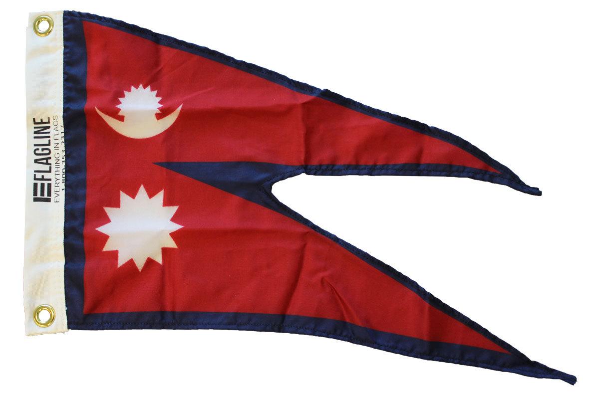 Nepal 12x18 nylon flag
