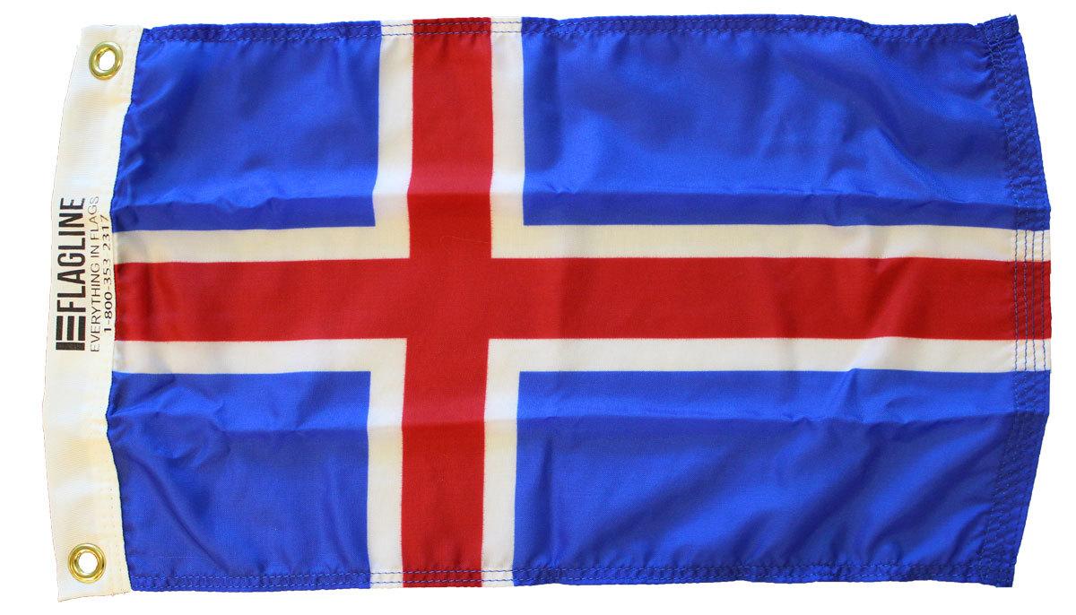 Iceland 12x18 nylon flag