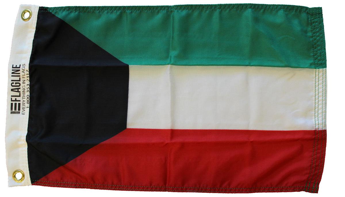 Kuwait 12x18 nylon flag