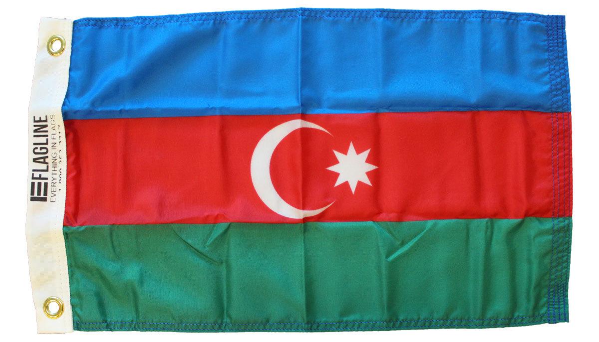 Azerbaijan 12x18 nylon flag