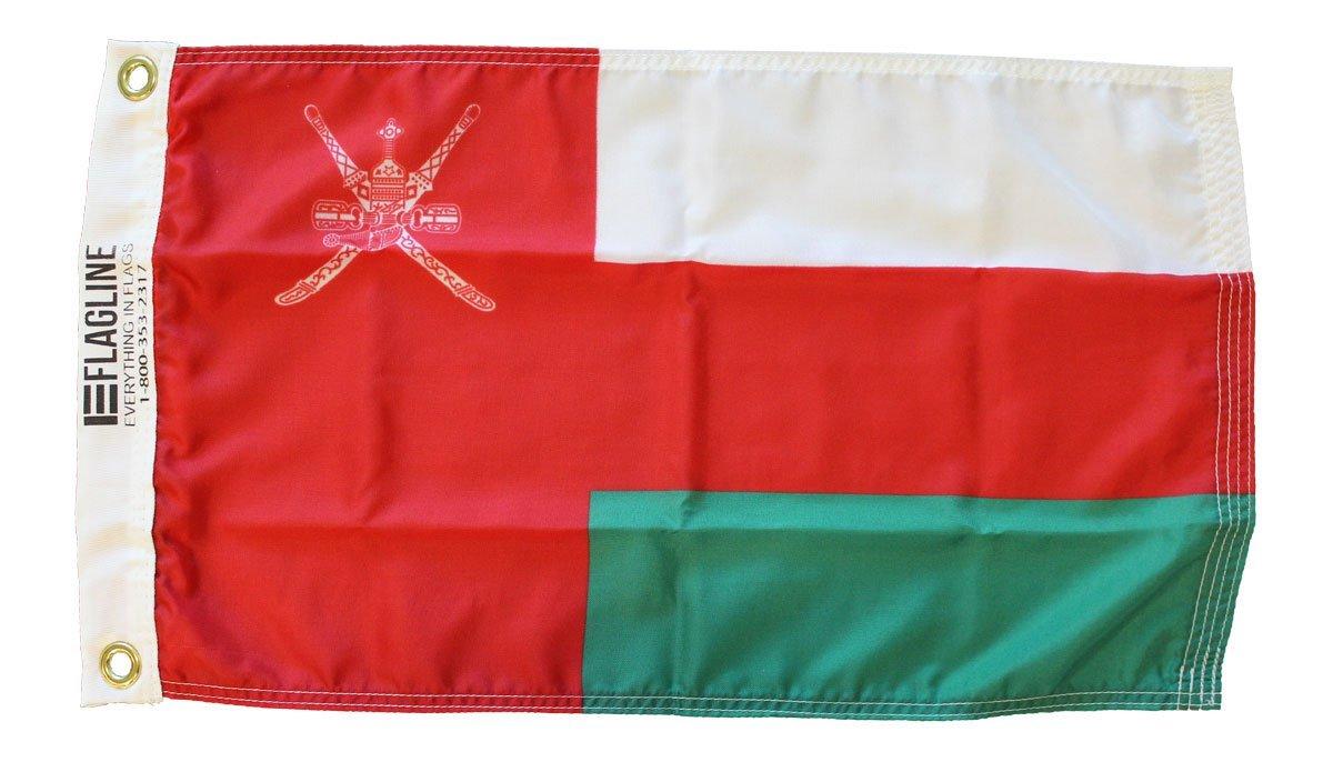 Oman 12x18 nylon flag