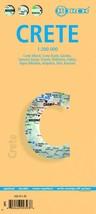 Crete - Laminated Borch Road Map - $14.34