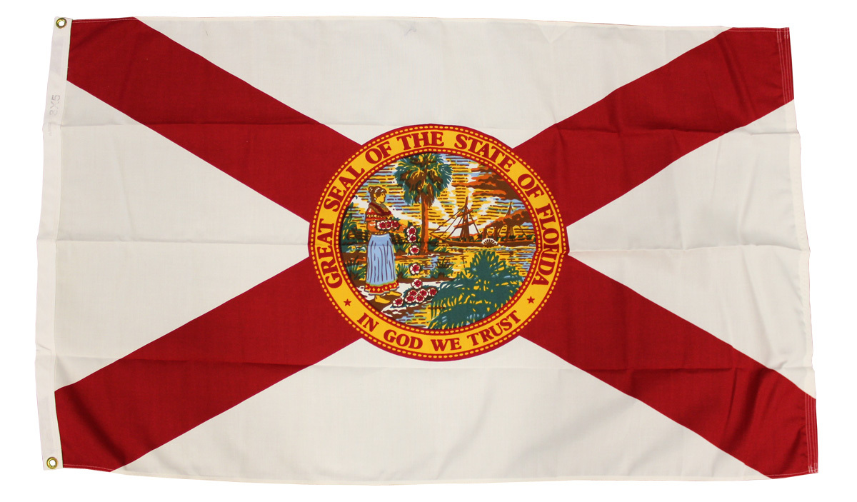 Florida - 3'X5' Heavy Duty 2-Ply Polyester Flag
