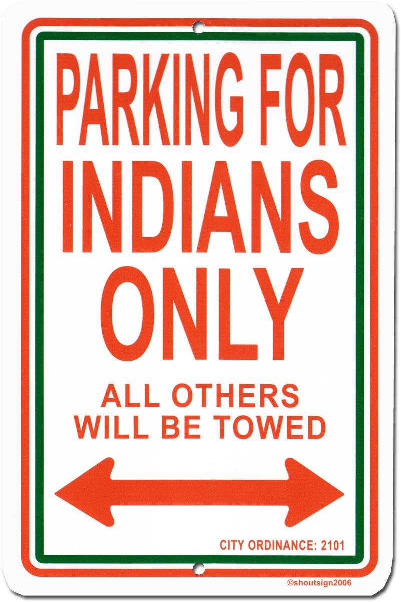 India metal sign