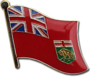 Manitoba Flag Lapel Pin