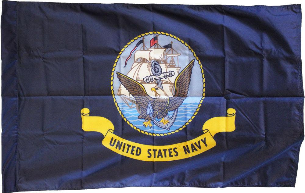 Navy nylon sleeve flag