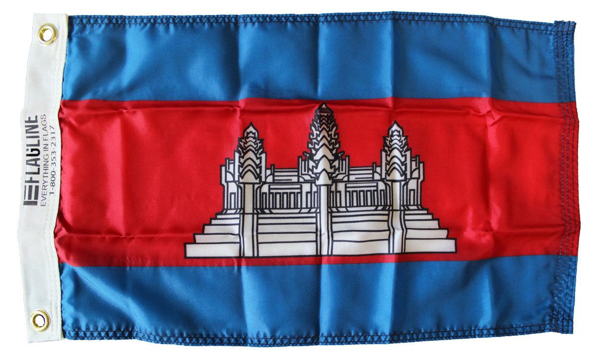 Cambodia 12x18 flag