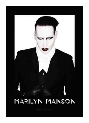 Marilyn Manson Textile Poster (Proper)