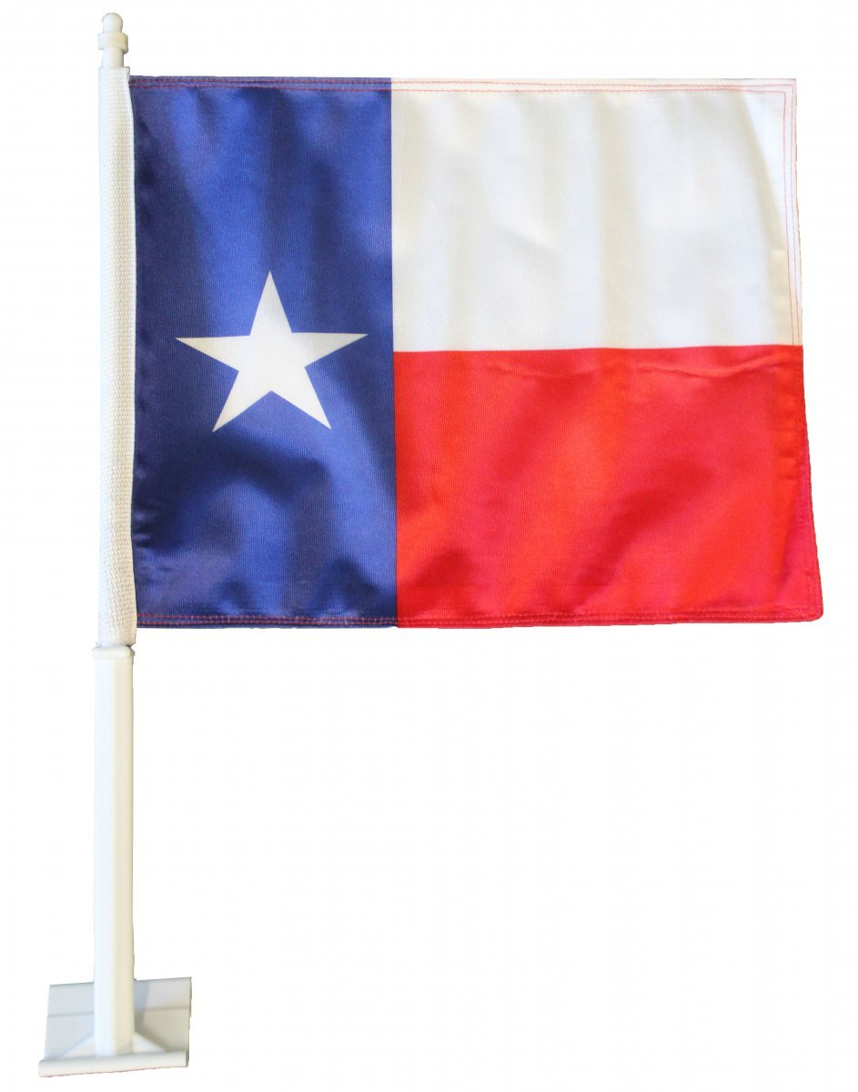 Texas car flag