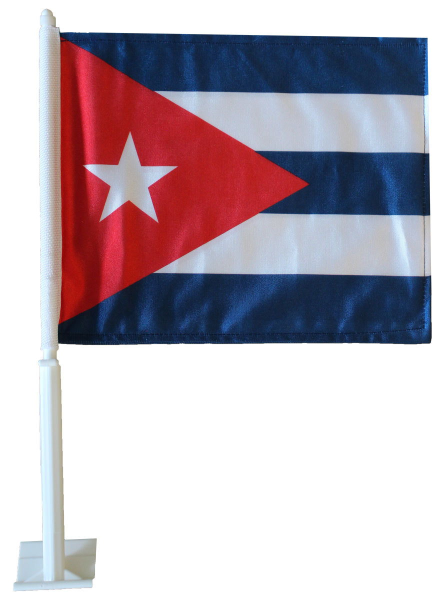 Cuba car flag