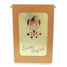 Vintage Canasta Samba Score Keeper Pad & Joker Jester Metal Case w Instr... - $19.50
