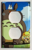 Totoro Fishing Light Switch Outlet Toggle Rocker Wall Cover Plate Home decor image 2