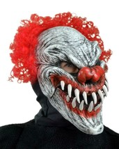 Clown Mask Last Laugh Creepy Red Curly Hair Halloween Costume Party MD1006 - $83.51 CAD