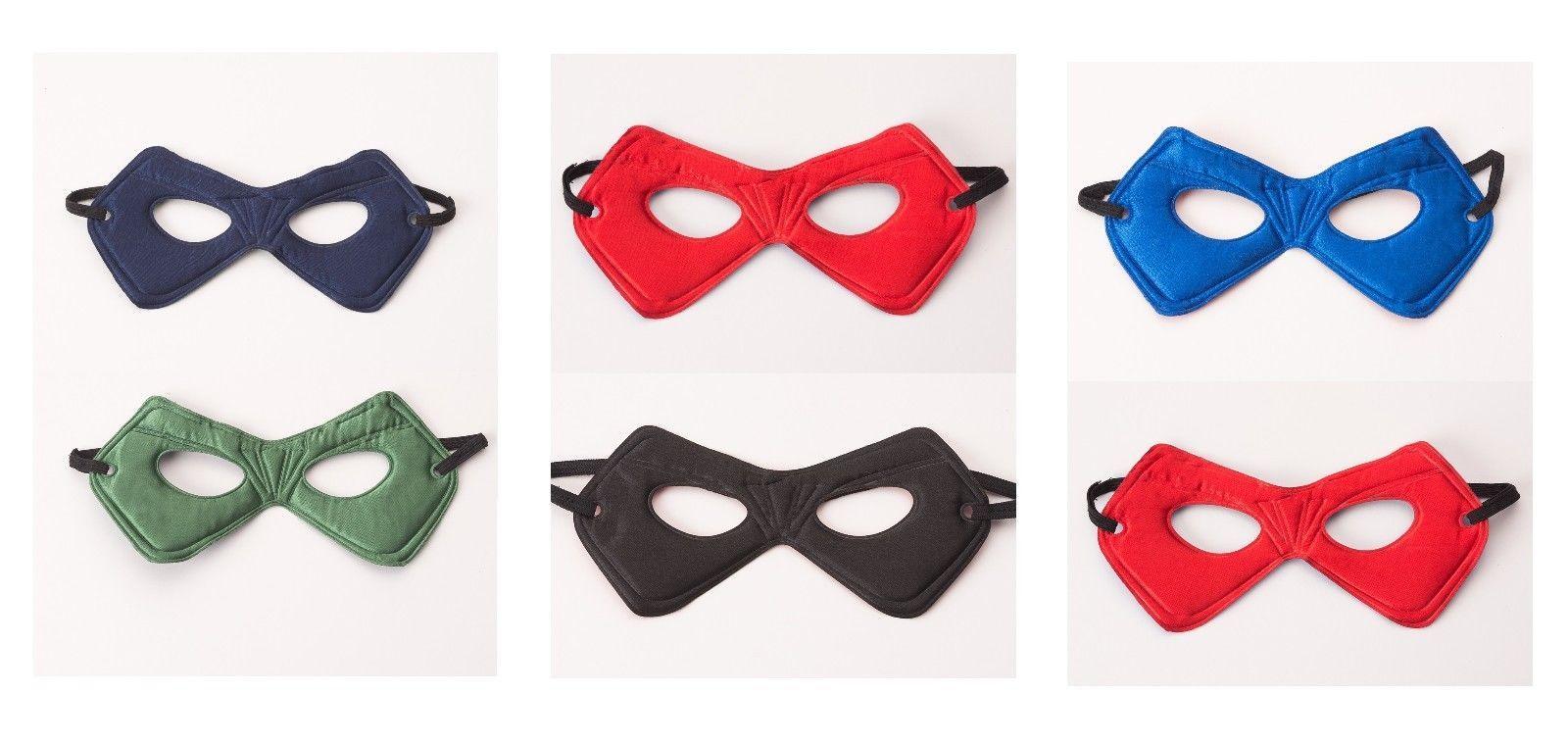 Boy Super Hero Power Mask 2 Color Reversible Nylon Pretend Batman Spiderman