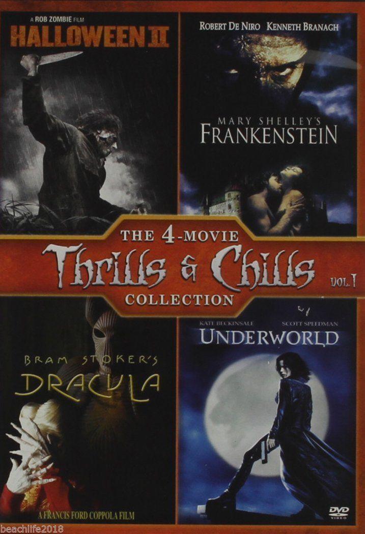 Thrills & Chills Vol 1 Set Dracula Halloween 2   Frankenstein Underworld DVD