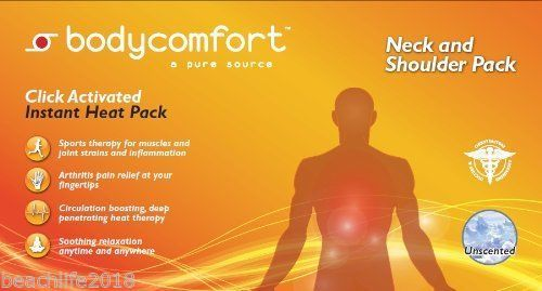 Body Comfort Neck & Shoulder Instant Heat Pack Click Activated Expedited Ship