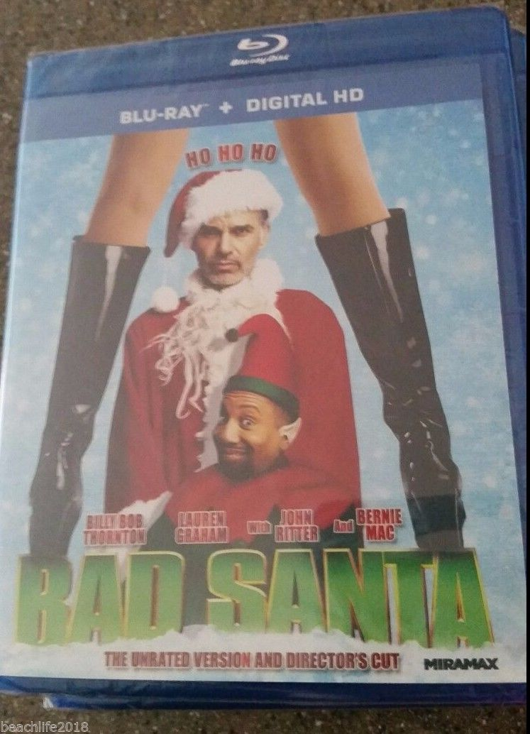 Bad Santa (Blu-ray Disc, 2014) NEW in Package Rated R Version