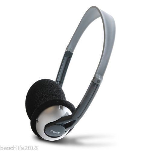 Coby Folding Lightweight Stereo Headphones NEW FAST Shipping